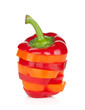 Sliced colorful bell pepper