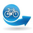 cycles sur bouton web bleu