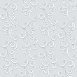 Abstract floral background, grey seamless pattern