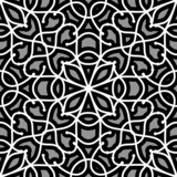 Abstract grey filigree ornament, seamless lace pattern poster