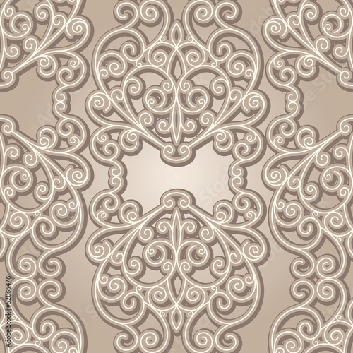 Abstract seamless pattern, vintage lace background
