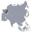 Asienkarte und Aserbaidschan