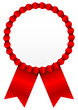 Red Award Badge Red Ribbon