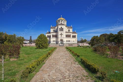 Vladimir cathedral in Chersonese. Sevastopol. Crimea.