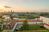 Lithuania in the spring. City of Vilnius in the sunset.