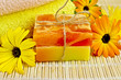 Soap homemade with calendula