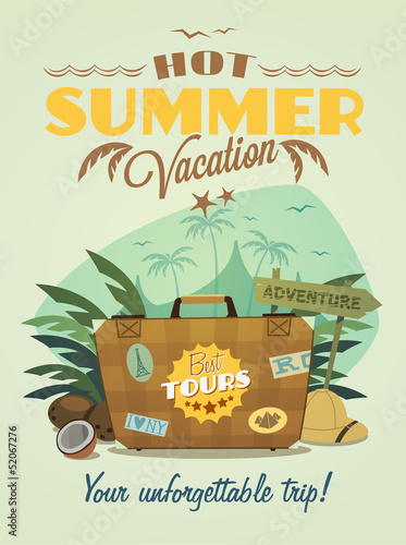 Summer vacation background