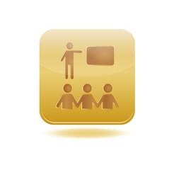 icône formation éducation carré gold