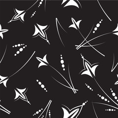 Black & white seamless pattern