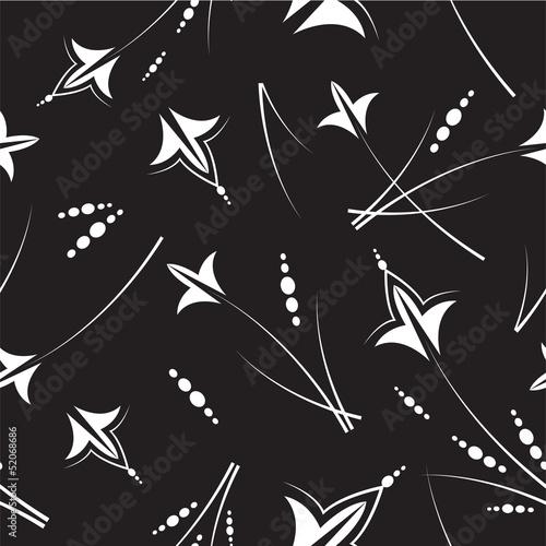 Black & white seamless pattern