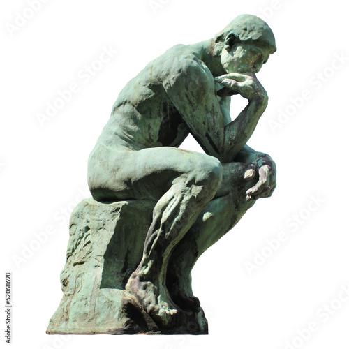 Spoed canvasdoek 2cm dik Standbeeld Le Penseur de Rodin (Laeken - Belgique)