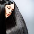 Long Straight Hair. Beautiful Brunette Girl