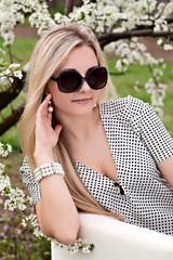 Portrait of beautiful girl outdoor