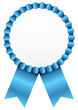 Blue Award Badge Blue Ribbon