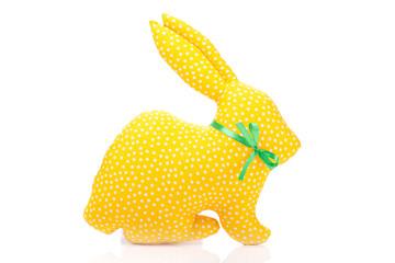 Yellow fabric rabbit
