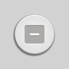 Collapse icon on button