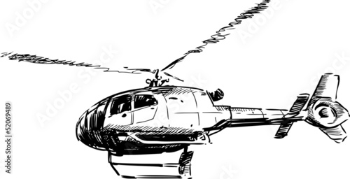 flying helicopter - 52069489