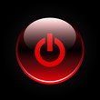 Red glossy power button