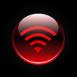 Red wifi or wireless button