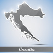 shiny icon in form of Croatia
