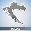 shiny icon in form of Croatia