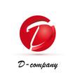 Vector Logo spherical letter D 3d