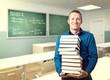 teacher and books