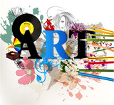 Abstract art vector conceptual background