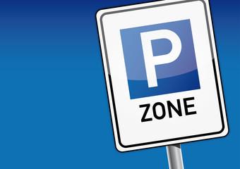 Parken, Auto, Schild, Parkraumbewirtschaftungszone