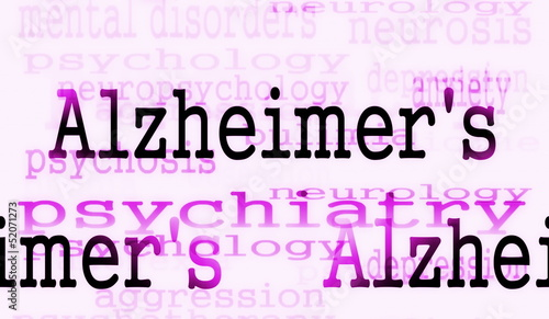 Alzheimer's disease symbol, Concept Dementia background
