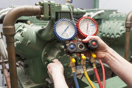 Leinwanddruck Bild Pressure control