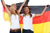 Freundinnen mit Fahne