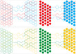 set of backgrounds with hexagonal combs