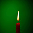 Candle On Green