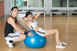 Fitness-ball sit-ups