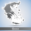 shiny icon in form of Greece