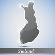 shiny icon in form of Finland