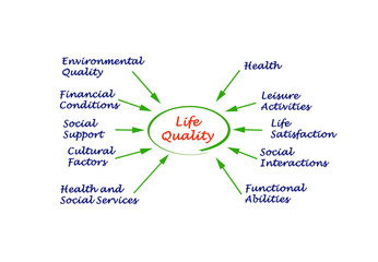 Diagram of life quality