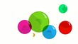 Blank creativity chart network colored rounds concept animation