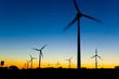 Leinwanddruck Bild - Windkraft