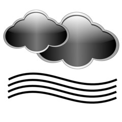 Clouds and fog icon