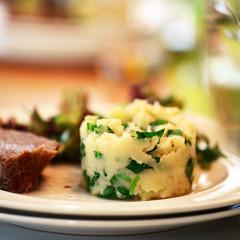 Kartoffelpüree mit Rucola