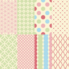 Seamless pattern in vintage style