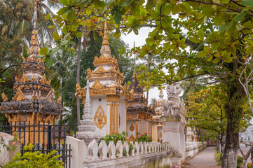 Small Stupas in Vientiane City