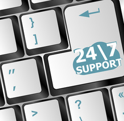 Support sign button on computer keyboard
