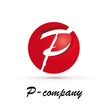 Vector Logo Spherical Letter P...