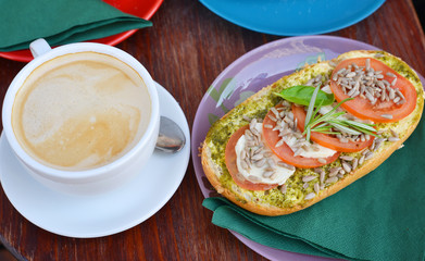 vegetarian Sandwich and Café