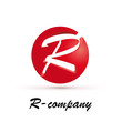 Vector Logo spherical letter R 3d
