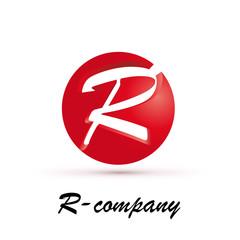 Vector Logo spherical letter R 3d