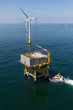 Boat transfer to substation in offshore windfarm - 52077805